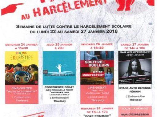 programme : semaine de lutte contre le harcèlement