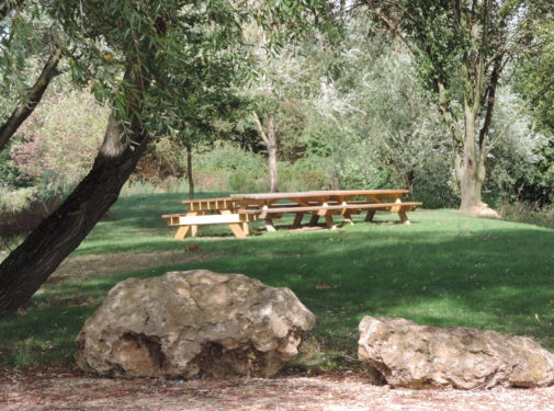 picnic area in chaleins